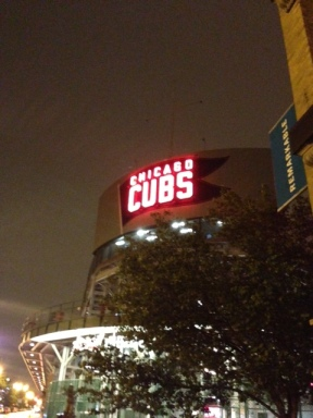 The iconic neon sign decorating Wrigley Field is as much a part of the stadium as it is the neighborhood.